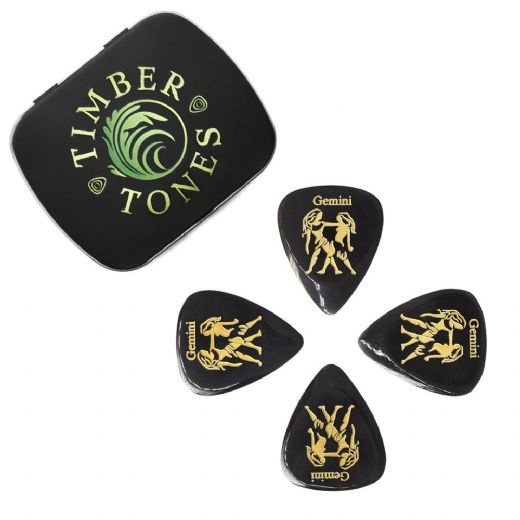 Zodiac Tones Gemini Tin of 4 Guitar Picks